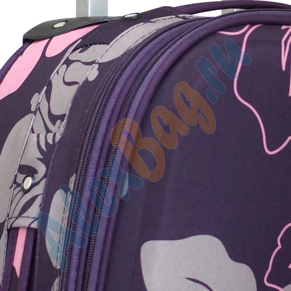 31fafa452ed7 Дорожный чемоданчик «Parma» фиолетовый с цветками. Маленький фиолетовый  чемодан ...
