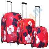 Комплект чемоданов Parma красный с цветками
