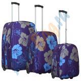 Комплект чемоданов Parma синий с цветками